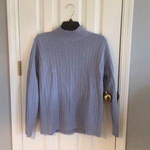 Chaps turtleneck sweater Small, light blue